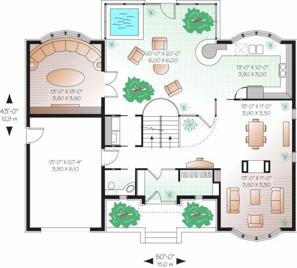European Floor Plan - Main Floor Plan Plan #23-833