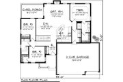 Traditional Style House Plan - 3 Beds 2 Baths 1501 Sq/Ft Plan #70-1131 Floor Plan - Main Floor Plan