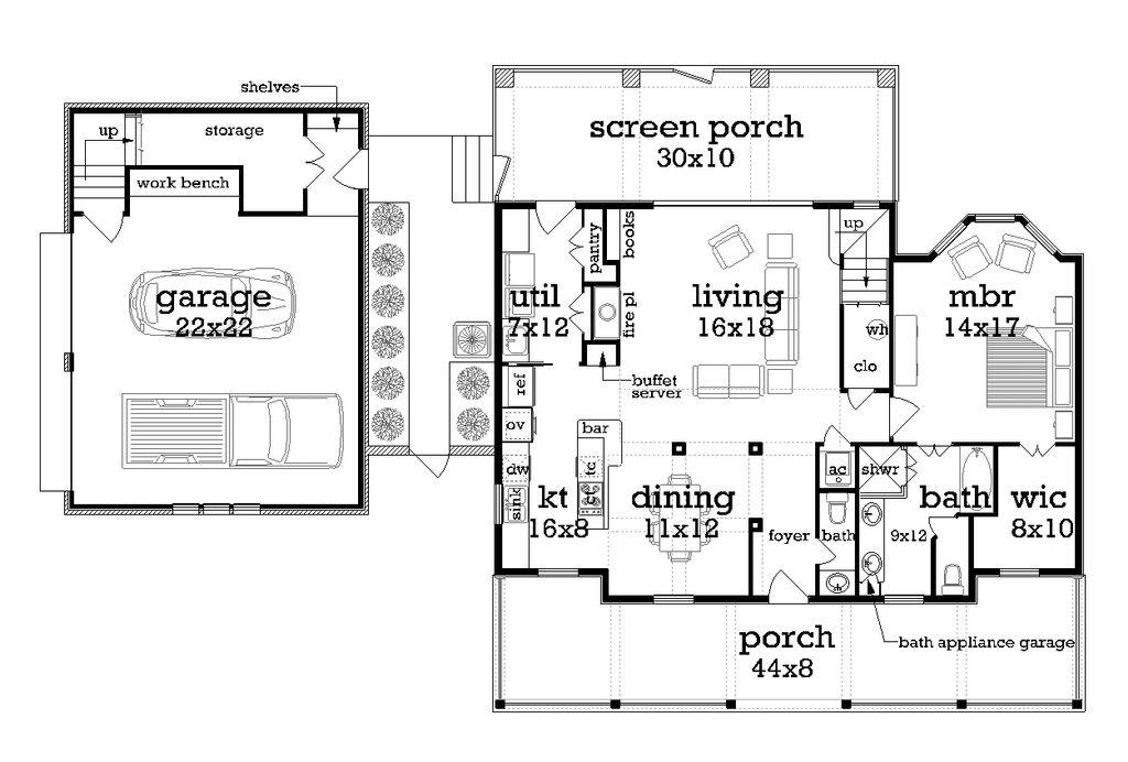 Awe Inspiring Southern Style House Plan 3 Beds 2 5 Baths 1755 Sq Ft Plan Download Free Architecture Designs Scobabritishbridgeorg