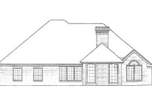 Home Plan - European Exterior - Rear Elevation Plan #310-815
