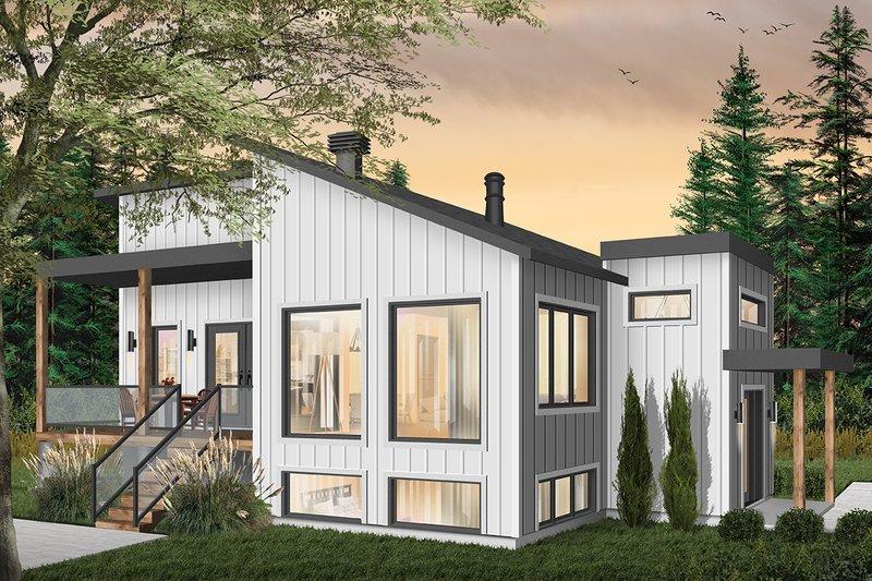 House Plan Design - Modern Exterior - Front Elevation Plan #23-2672