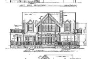 Farmhouse Style House Plan - 3 Beds 2.5 Baths 2446 Sq/Ft Plan #140-120 Exterior - Rear Elevation