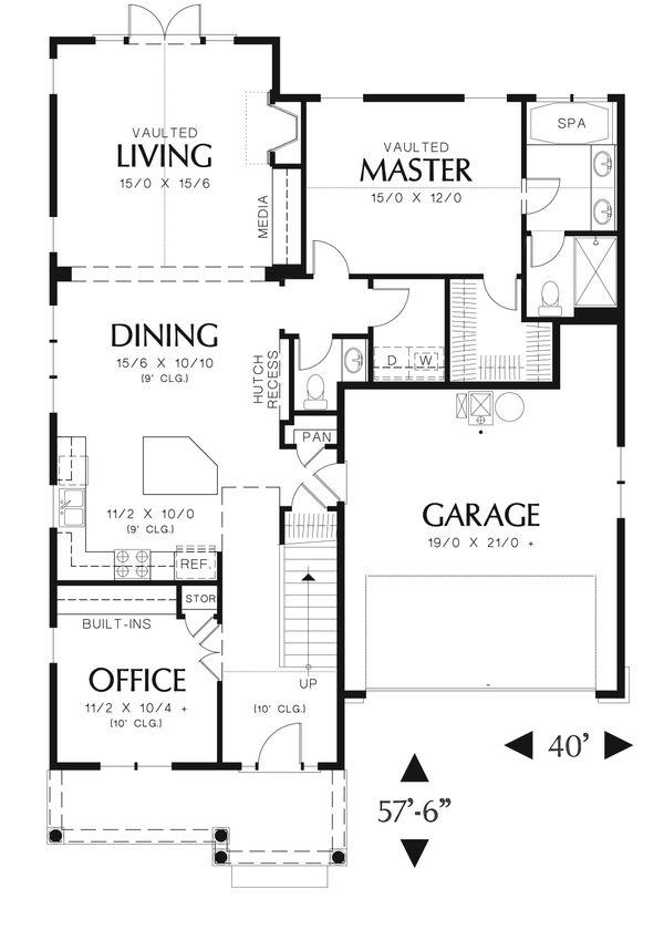 Cottage Floor Plan - Main Floor Plan #48-633