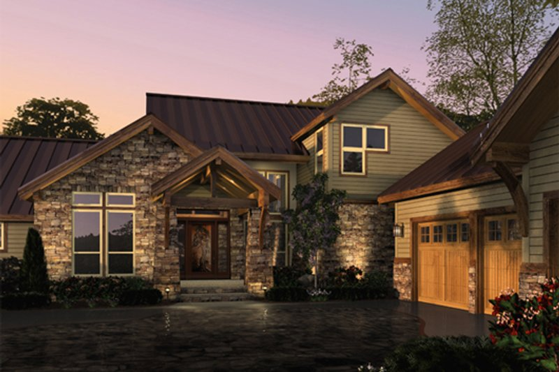 Craftsman Exterior - Front Elevation Plan #48-463