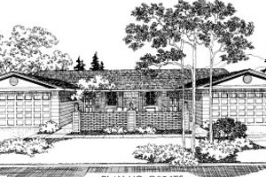 Ranch Exterior - Front Elevation Plan #303-168