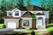 European Style House Plan - 3 Beds 2 Baths 2678 Sq/Ft Plan #25-4530 Exterior - Front Elevation