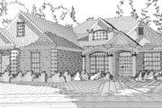 Traditional Style House Plan - 3 Beds 3 Baths 2982 Sq/Ft Plan #63-352 Exterior - Front Elevation