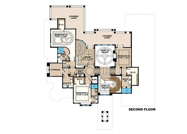 Mediterranean Floor Plan - Other Floor Plan Plan #27-538