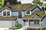 Traditional Style House Plan - 3 Beds 2.5 Baths 2050 Sq/Ft Plan #312-423 Exterior - Front Elevation