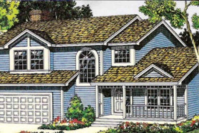 Traditional Style House Plan - 3 Beds 2.5 Baths 2050 Sq/Ft Plan #312-423
