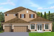 Traditional Style House Plan - 4 Beds 4.5 Baths 3398 Sq/Ft Plan #1058-206 Exterior - Front Elevation