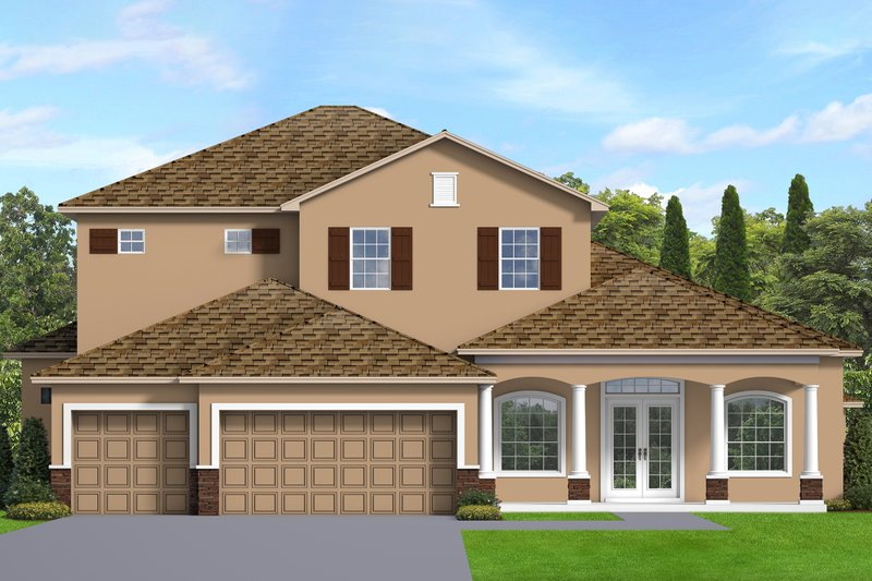 Dream House Plan - Traditional Exterior - Front Elevation Plan #1058-206