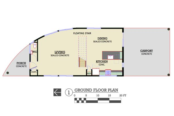 Modern Floor Plan - Main Floor Plan Plan #450-6