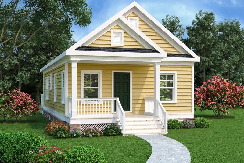 Cottage Exterior - Front Elevation Plan #419-226