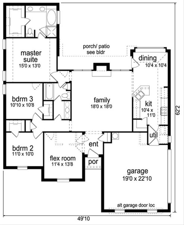 Traditional Floor Plan - Main Floor Plan Plan #84-559