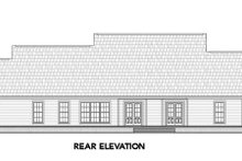 House Design - Country Exterior - Rear Elevation Plan #21-304