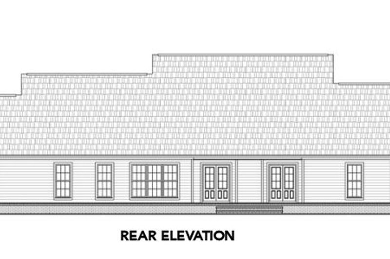 Country Exterior - Rear Elevation Plan #21-304 - Houseplans.com