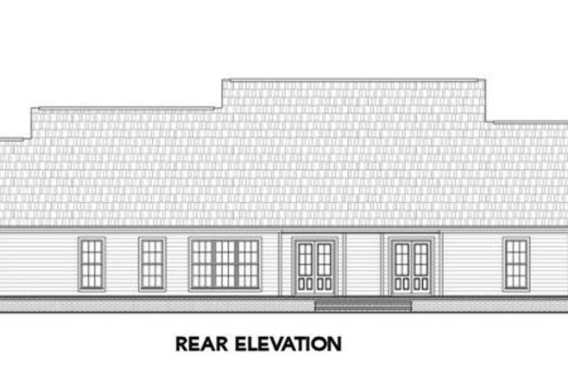 Country Exterior - Rear Elevation Plan #21-304 - Houseplans.com
