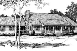 Ranch Exterior - Front Elevation Plan #10-137