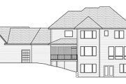 Craftsman Style House Plan - 4 Beds 3.5 Baths 3524 Sq/Ft Plan #51-464 Exterior - Rear Elevation
