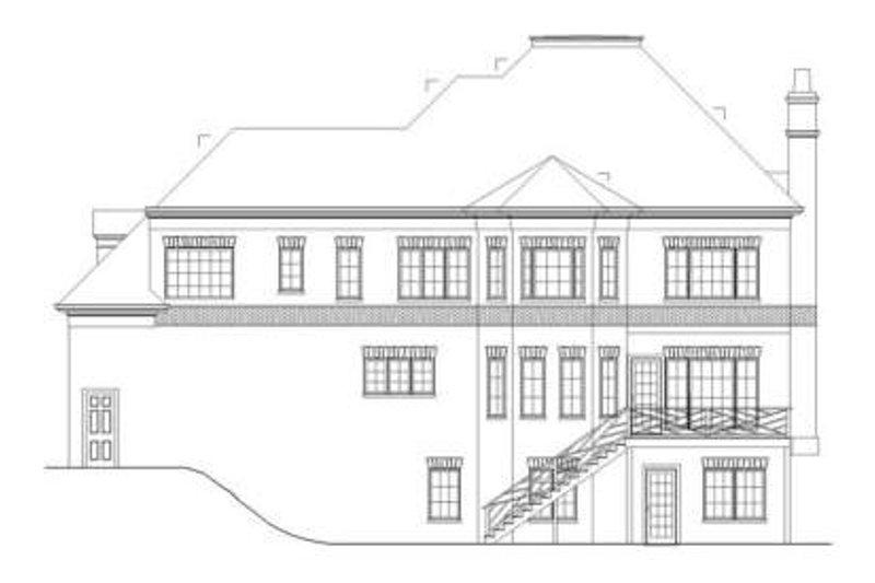 European Exterior - Rear Elevation Plan #119-334 - Houseplans.com