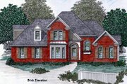 European Style House Plan - 3 Beds 2.5 Baths 1658 Sq/Ft Plan #129-109 Exterior - Other Elevation