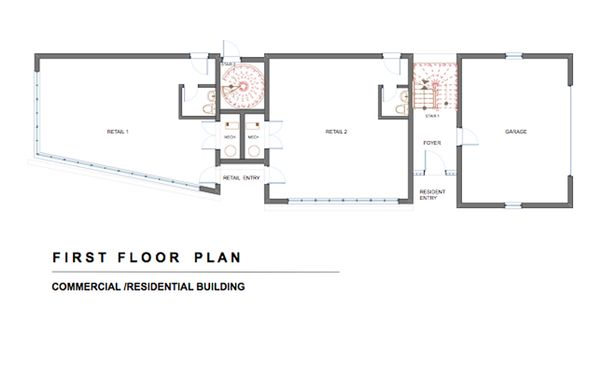 Modern Floor Plan - Main Floor Plan Plan #535-1