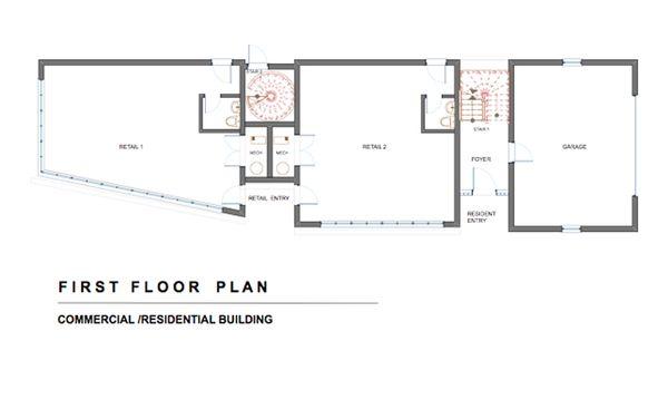 Modern Floor Plan - Main Floor Plan #535-1