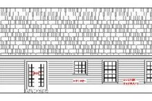House Plan Design - Ranch Exterior - Rear Elevation Plan #21-115