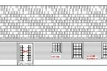 House Plan Design - Ranch Exterior - Rear Elevation Plan #21-115