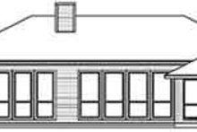 House Plan Design - European Exterior - Rear Elevation Plan #84-216