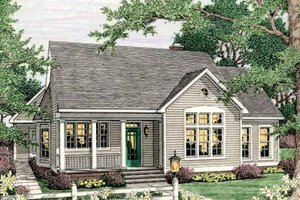 Country Exterior - Front Elevation Plan #406-266