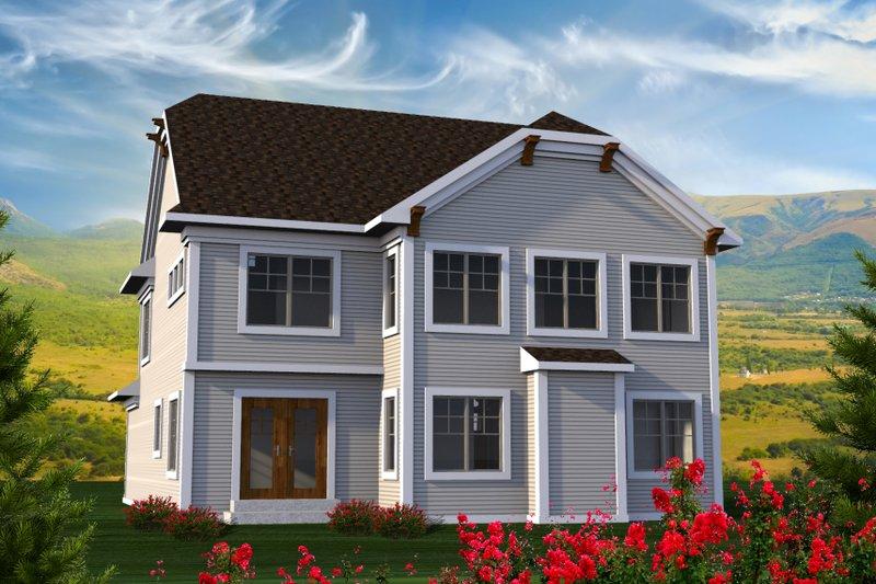 Craftsman Exterior - Rear Elevation Plan #70-1211 - Houseplans.com