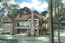 House Plan Design - Craftsman Exterior - Rear Elevation Plan #17-2504