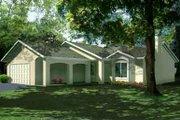 Adobe / Southwestern Style House Plan - 3 Beds 2 Baths 1257 Sq/Ft Plan #1-1071