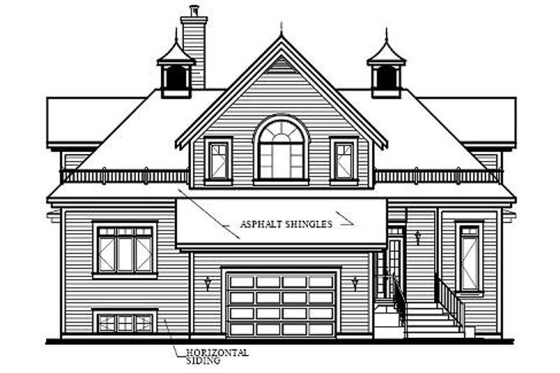 Traditional Exterior - Rear Elevation Plan #23-415 - Houseplans.com