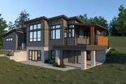 Contemporary Style House Plan - 3 Beds 3 Baths 2800 Sq/Ft Plan #1070-71 Exterior - Other Elevation