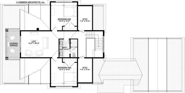 Dream House Plan - Bungalow Floor Plan - Upper Floor Plan #928-330