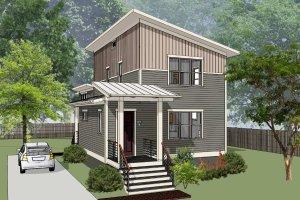Dream House Plan - Modern Exterior - Front Elevation Plan #79-322