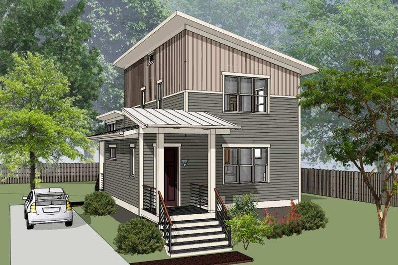 House Plan Design - Modern Exterior - Front Elevation Plan #79-322