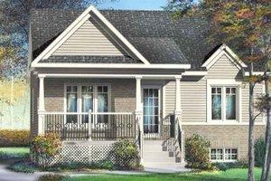 Craftsman Exterior - Front Elevation Plan #25-4112