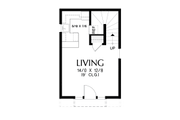 Tudor Style House Plan - 1 Beds 1 Baths 628 Sq/Ft Plan #48-999 Floor Plan - Main Floor