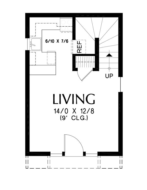 Tudor Floor Plan - Main Floor Plan #48-999