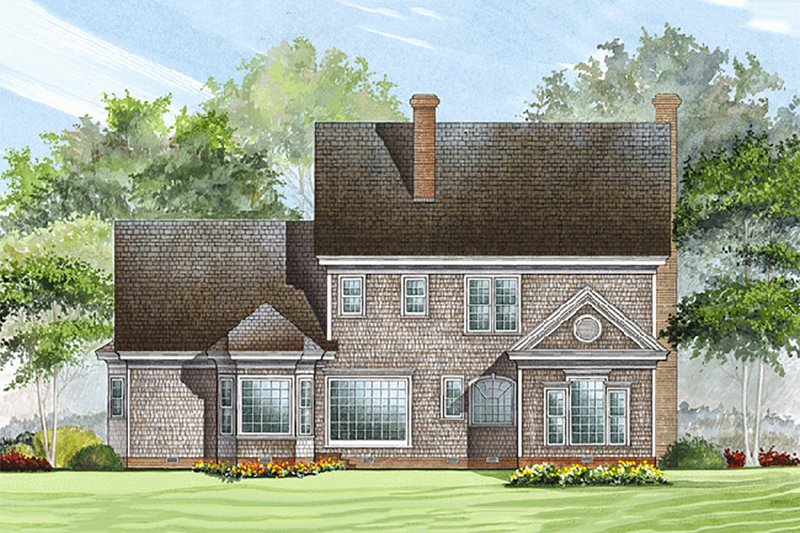 Southern Exterior - Rear Elevation Plan #137-174 - Houseplans.com