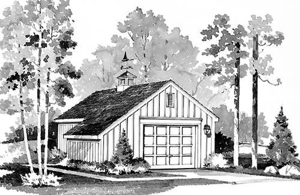 Colonial Style House Plan - 0 Beds 0 Baths 384 Sq/Ft Plan #72-238