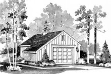 Colonial Exterior - Front Elevation Plan #72-238