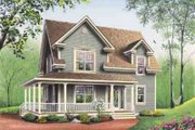 Farmhouse Style House Plan - 3 Beds 1.5 Baths 1700 Sq/Ft Plan #23-448 Exterior - Other Elevation