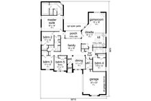 Traditional Floor Plan - Main Floor Plan Plan #84-596