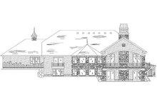 House Plan Design - European Exterior - Rear Elevation Plan #5-353