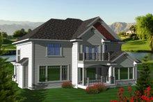 Home Plan Design - Craftsman Exterior - Rear Elevation Plan #70-1125